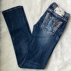 Miss Me Signature Straight Jeans JE8457TL -Size 25